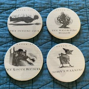 Set of 4 Harry Potter Book Page Coasters